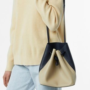 Oak + Fort Two Tone Bucket Bag